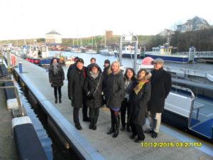 FARNET delegates at Eyemouth Harbour