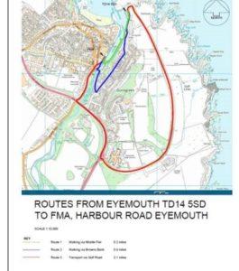 Red Bridge diversion map