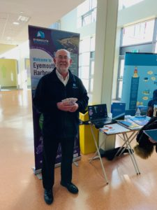 Harbour Master, Richard Lawton at Eyemouth High School Career Convention