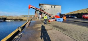 New ice production facility operational at Eyemouth Harbour.