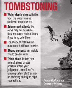 Public message: Tombstoning around the harbour